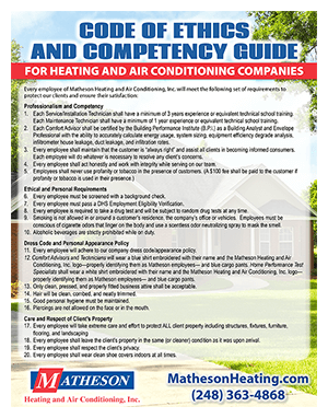 HVAC Companies Code Of Ethics