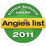 Angie's List 2011 Award Logo