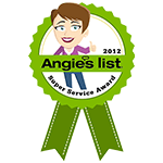 Angie's List 2012 Award Logo
